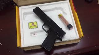 blanca airpistol .177 cal unboxing, shooting, loading