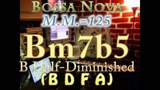 bm7b5 half-dim (b d f a) bossa nova - m.m.=125 - one chord vamp