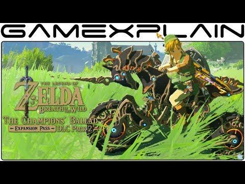 Cruising on the Master Cycle Zero -  Zelda: BotW DLC Pack 2: The Champions' Ballad Gameplay