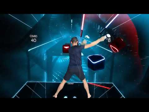 Beat Saber Mixed Reality - Never Sleep Alone - Kaskade