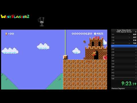 Super Warp World 100% Special World - World Record