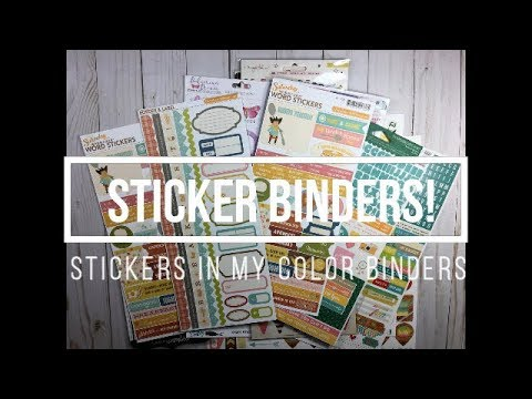 Organizing Stickers // My Color Binders