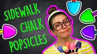 Popsicle DIY Sidewalk Chalk - Fun Summer Kids Crafts! | Arts and Crafts with Crafty Carol