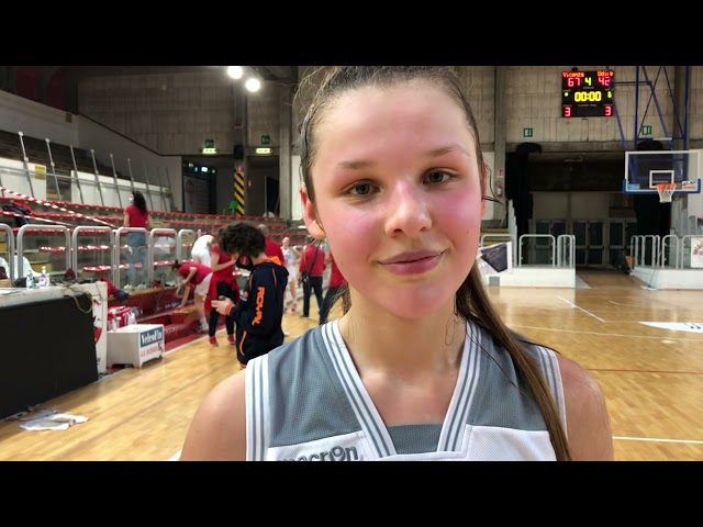 Basket A2 - Milena Mioni (As Vicenza) dopo la vittoria in gara 1
