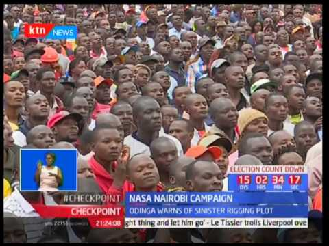 NASA brigade in Nairobi : Raila Odinga says the police should not allow themselves to be used