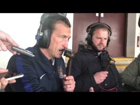 Justin Edinburgh speaks to BBC Radio Northampton after the 1-1 draw at Rochdale