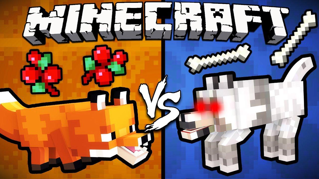 Fox vs. Wolf – Minecraft