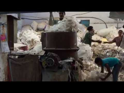 Plastic bag recycling in Bangalore