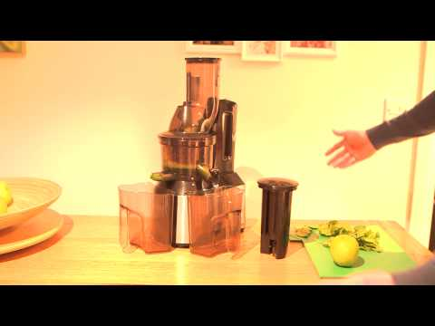 Jr Ultra 8000 S Whole Slow Juicer Review : Making a green juice in my JR Ultra 8000 Whole Slow Juicer - YouTube