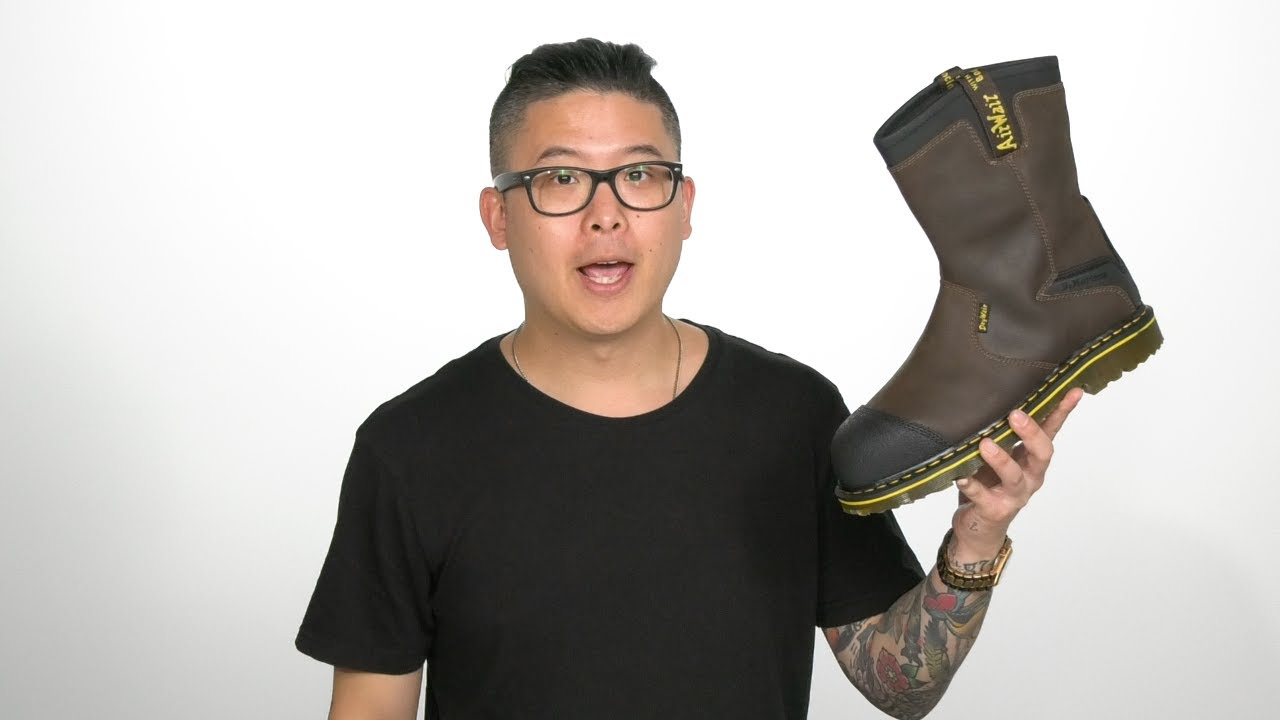 dr martens steel toe wellington boots