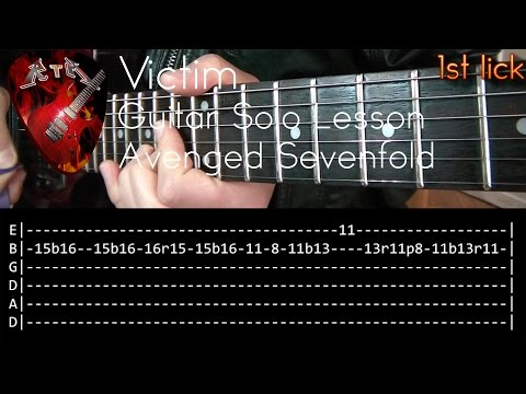 Victim Guitar Solo Lesson - Avenged Sevenfold (with tabs)