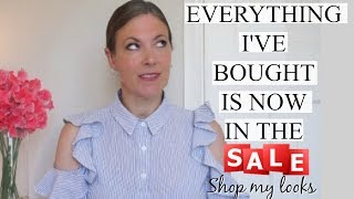 EVERYTHING I'VE BOUGHT IS NOW IN THE SALE  | ZARA TOPSHOP ASOS OASIS| Fashion for over 40