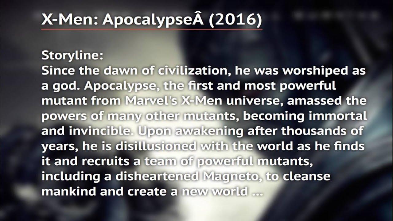 X Men Apocalypse Watch Online