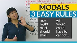 No more mistakes with MODALS! 3 Easy Rules