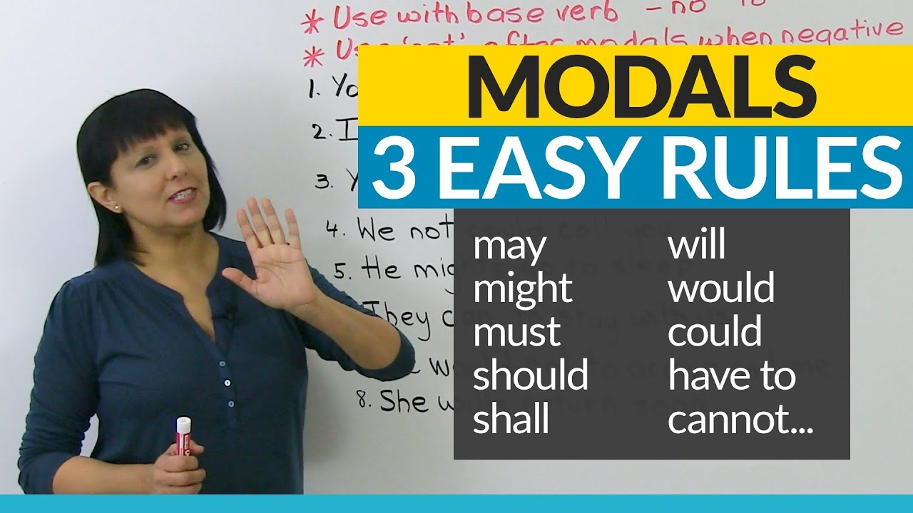 No More Mistakes With Modals 3 Easy Rules Youtube