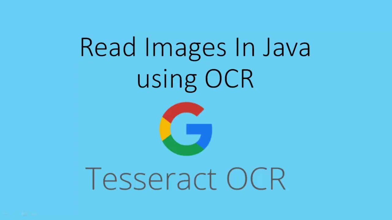 How To Read Images in Java Using OCR- Tesseract