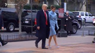 Մինչ Դոնալդ Թրամփը կնոջ հետ ժամանում է եկեղեցի, Վաշինգտոնում բողոքի ցույցեր են անցկացվում