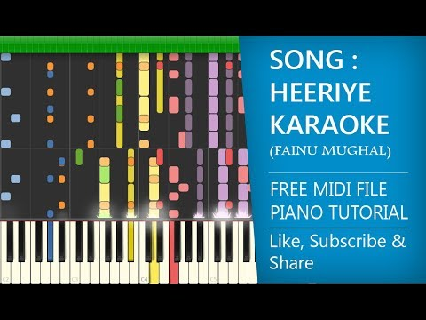 Bilal Saeed | Heeriye Karaoke | Piano Tutorial |  Fainu Mughal