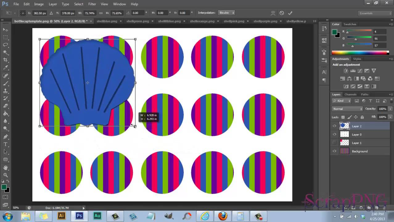 how to use my bottle cap template a photoshop tutorial youtube