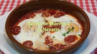 Receta de huevos con chorizo a la Navarra