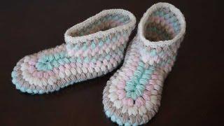 Сапожки крючком / How to crochet boots