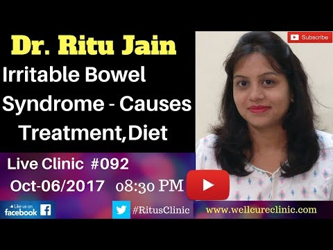 Irritable Bowel Syndrome(IBS) Symptoms,Treatment,Diet,Causes- Dr.Ritu's Live Homeopathy Clinic #092