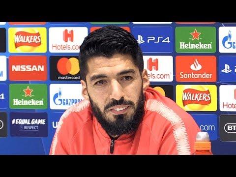 Luis Suarez Full Pre-Match Press Conference - Liverpool v Barcelona - Champions League Semi-Final