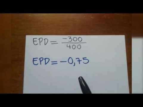 Como calcular la Elasticidad Precio de la Demanda EPD (microeconomia)