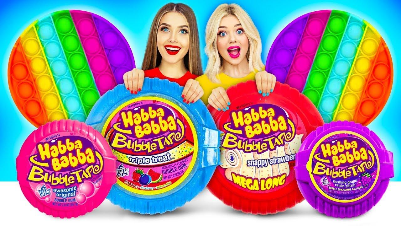 ¡Desafío de inflar chicles! | Batalla épica de comida de RATATA