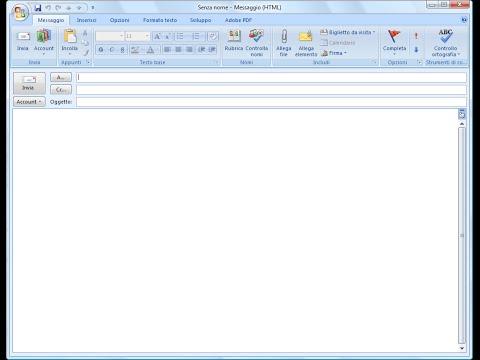 Come inviare una email con VBA