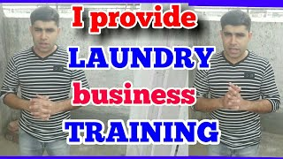 Finally start our new Commercial Laundry business training program.