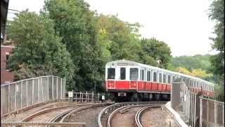 MBTA Elevated Subway: Red Line Train at Fields Corner [1700 Series]