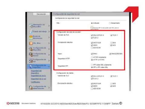 configuracion envio por correo electronico kyocera fs-1035 - YouTube