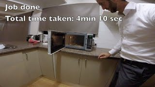 How to Replace a Microwave Bulb in 4 Minutes & 10 Seconds