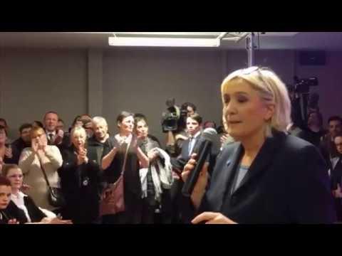 Marine Le Pen à Haulchin - 27 janvier 2017