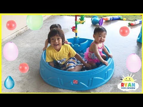 Thumbnail: Step2 Play & Shade Kiddie Swimming Pool water balloons and Mr. Bubble Foam Soap