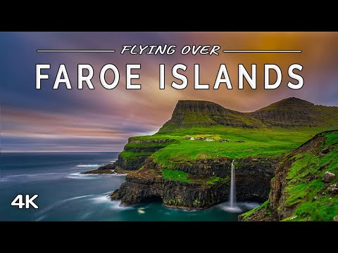 Flying over Faroe Islands: 1 HOUR of Nature Scenery with Ambient Music (4K UHD Drone Film)
