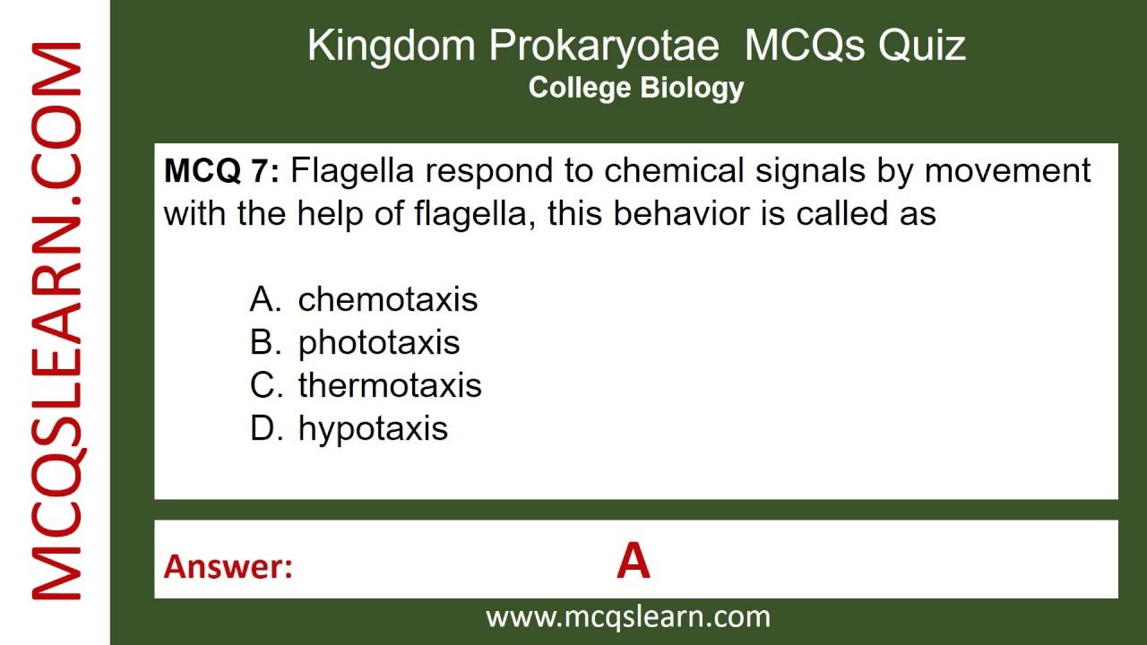 Kingdom Prokaryotae MCQs - MCQsLearn Free Videos