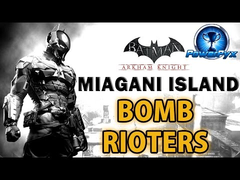 Batman Arkham Knight - Miagani Island - All Bomb Rioter Locations
