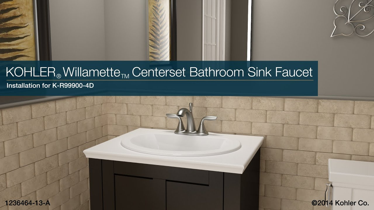 Installation Willamette Centerset Bathroom Sink Faucet