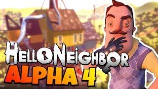 Hello Neighbor Alpha 4 Release Date Secret Revealed!   New Hello Neighbor Alpha 4 Secrets And Map!