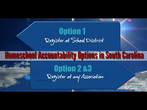 What is Option 1, 2 & 3 Homeschool Law in South Carolina?