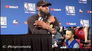 LeBron James Responds To Steph Curry Speaking On Him Having Help Ahead Of Cavs vs Warriors Game 1