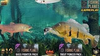FISHING PLANET #19 TEST DLC Bass Fighter Pack & Trout Pioneer Pack JEU DE PECHE GAME 2017