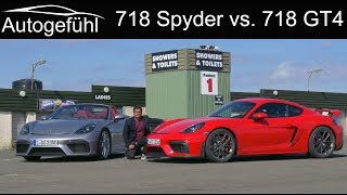 Porsche 718 Cayman GT4 vs 718 Spyder FULL Review comparison - the six-cylinders return!