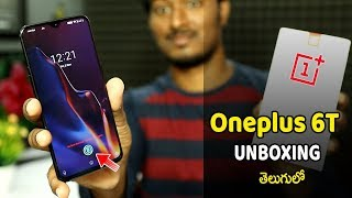 Oneplus 6T UNBOXING & Overview  In Telugu 2018🔥🔥