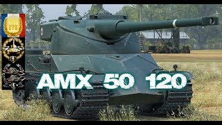 AMX 50 120 #4 World of Tank Blitz Feat Sneaky Aced gameplay 5400 DMG