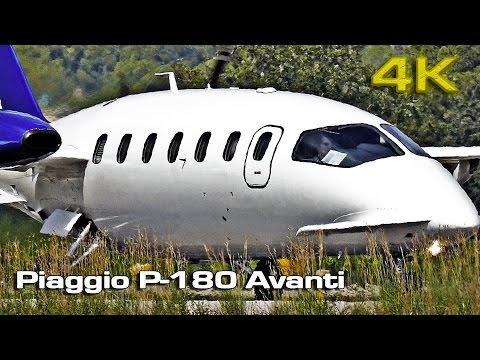 Piaggio P 180 Avanti (close takeoff) [4K]