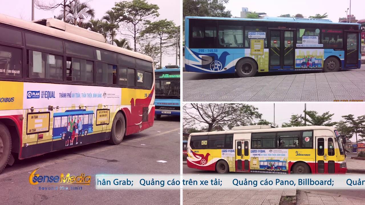 Quảng cáo trên xe buýt tại Hà Nội || Plan International – Girls Get Equal [SSM.VN]