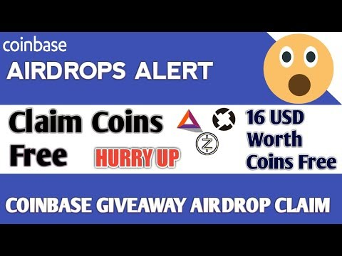 COINBASE AirDrop Alert || Claim Coins Free BAT, Zcash,ZRX || Earn Free Coins worth 16$ Free Giveaway